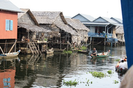 'Floating' village, Tonle Sap lake
