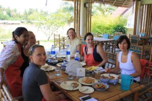 Thai cookery class, Kanchanaburi.